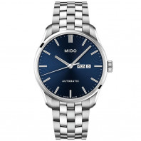 MIDO Belluna automatic blue & steel Daydate Men's watch