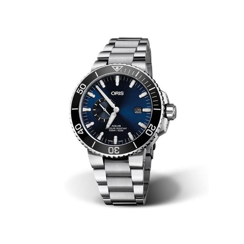 Oris Aquis Small Second & Date blue &bracelet 0174377334135-0782405PEB