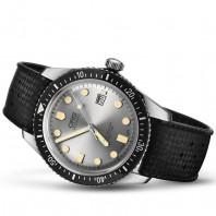 Oris Divers Sixty-Five Silver urtavla &gummiband 733 7720 4051-4 21 18