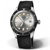 Oris Divers Sixty-Five Silver & Rubber strap