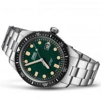 Oris Divers Sixty-Five Green Dial & Steel Bracelet