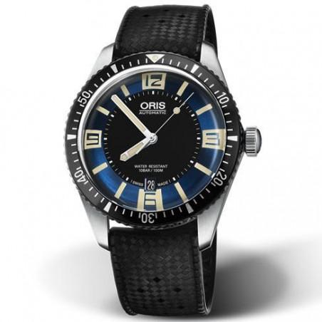 Oris Divers Sixty-Five Blue & Rubber Strap 733 7707 4035-4 20 18