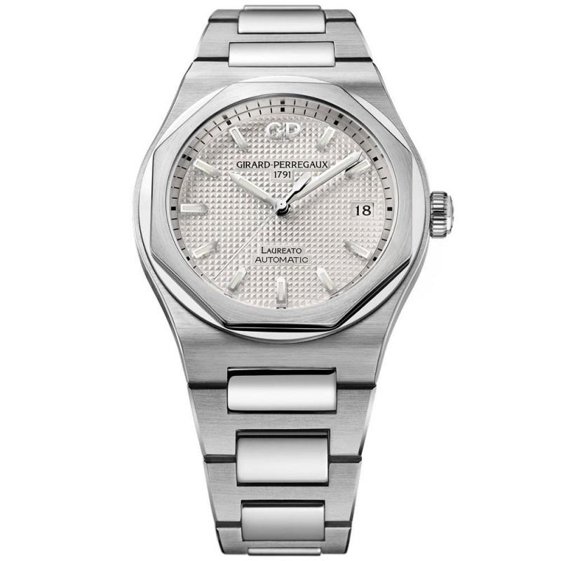 Girard-Perregaux Laureato Silver dial &Bracelet 38 mm 81005-11-131-11A
