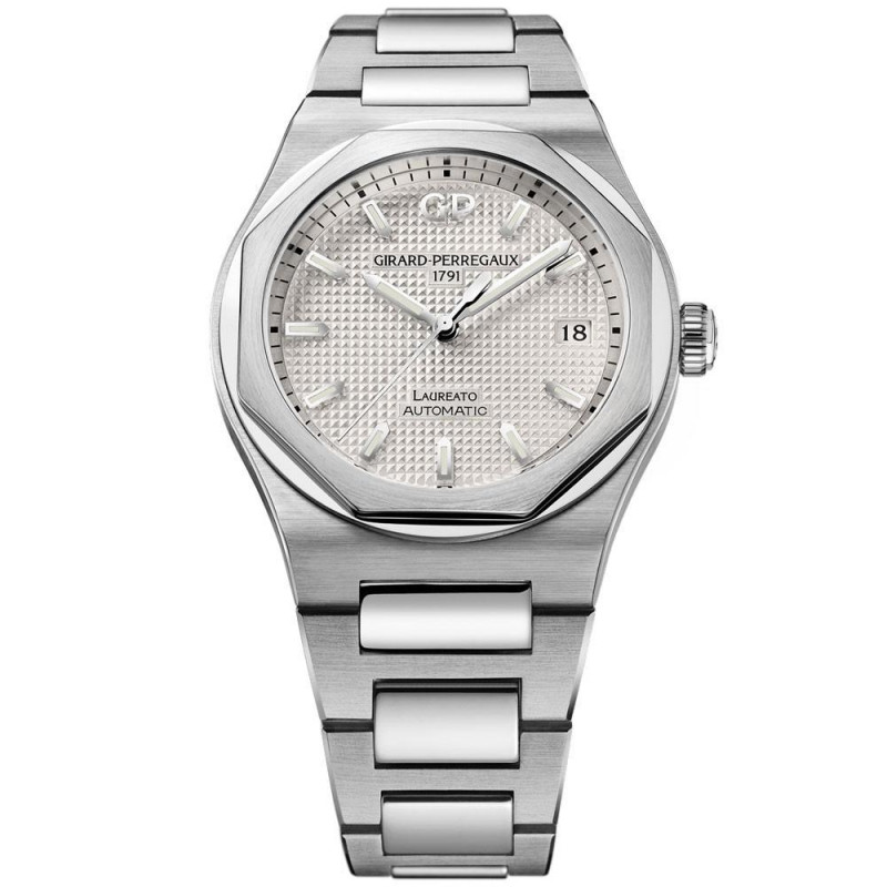 Girard-Perregaux Laureato Silver & Stållänk 38 mm 81005-11-131-11A