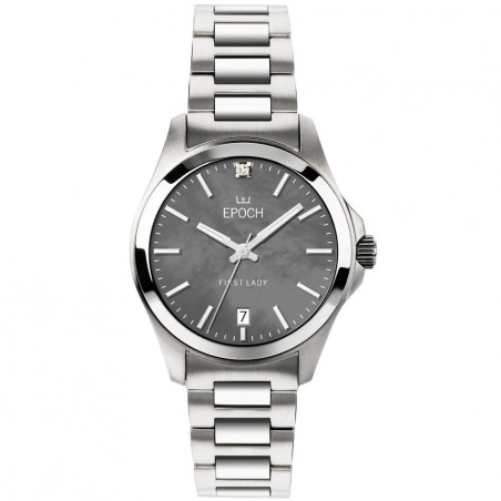 Epoch First Lady Mother of Pearl grey dial & steel braceletEP3106