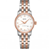 MIDO Baroncelli - Automatic White Steel & Rose Gold Lady's