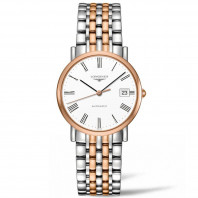 Longines Elegant 34.5 mm rose gold Roman Numeral