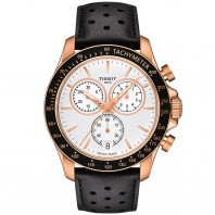 Tissot -V8 Quartz Chronograph gold & leather strap
