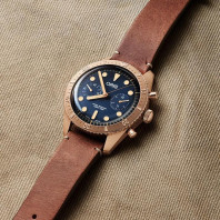 Oris - Carl Brashear Bronze Chronograph Limited Edition 2000 pcs. Special luxury wooden presentation box. 771 7744 3185-Set LS