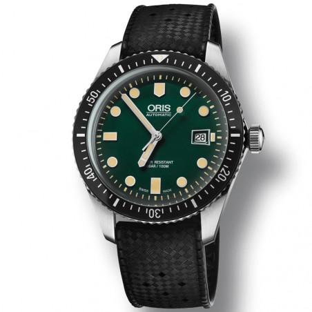 Oris Divers Sixty-Five Grön & Gummiband