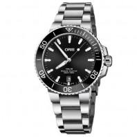 Oris - Aquis 39.5 mm. Sunburst Black dial & bracelet 733 7732 4134