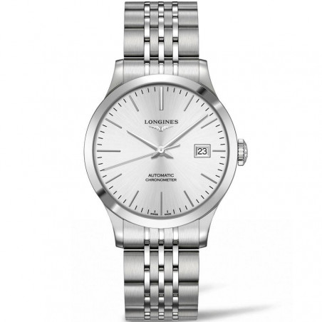 Longines - Record silver dial and bracelet 38.5 mm