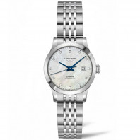 Longines - Record Lady White Mother-Of-Pearl & Diamonds 30 mm