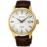 Seiko - Presage Cocktail Automatic White & Leather Strap