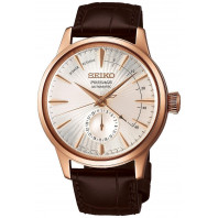Seiko - Presage Cocktail Automatic Date Rosé Gold & Leather