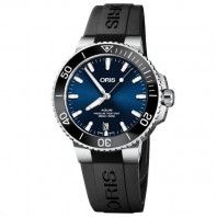 Oris - Aquis 39.5 mm Sunburst Black dial & rubber strap 733 7732 4134