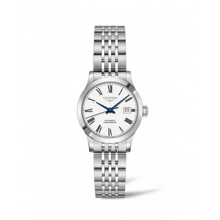 Longines - Record Lady 30 mm white dial with roman numeral