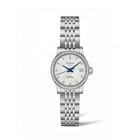 Longines - Record Lady Watch White Mother-Of-Pearl & Diamonds 26 mm
