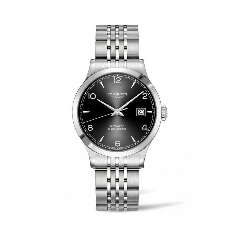 Longines - Record Black Dial and Bracelet 38.5 mm