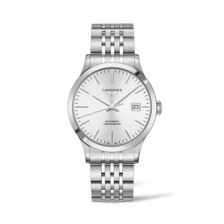 Longines - Record Silver Dial and Bracelet 40 mm