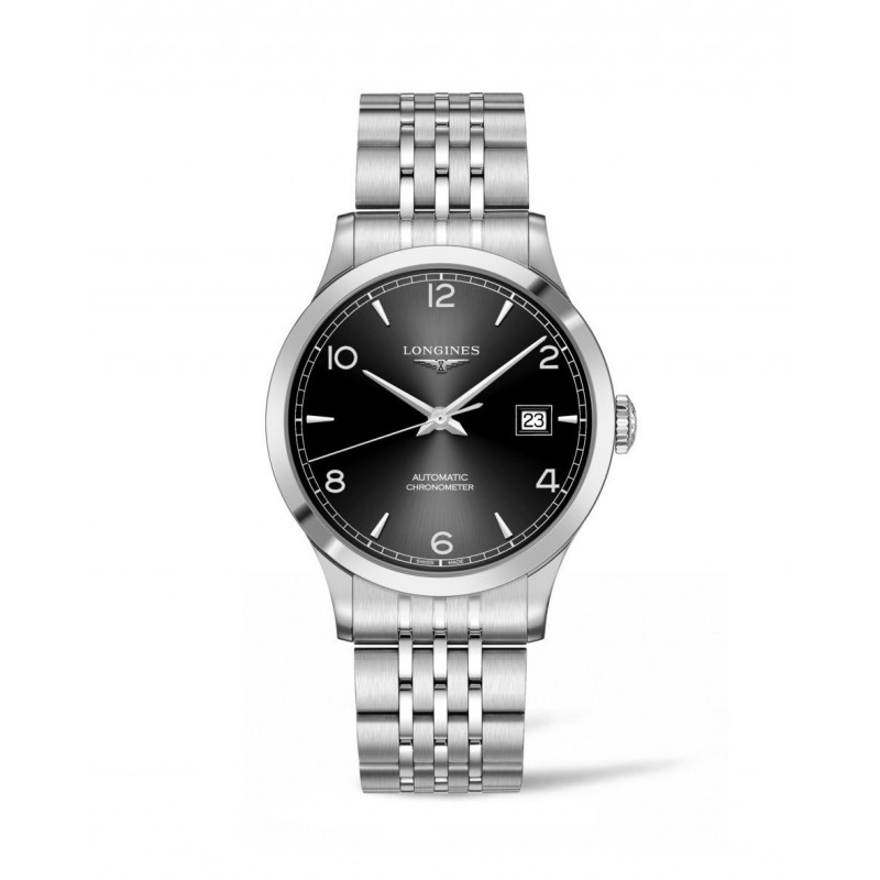 Longines - Record Black Dial and Bracelet 40 mm