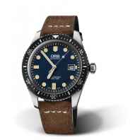 Oris Divers Sixty-Five Blue Dial & Leather strap