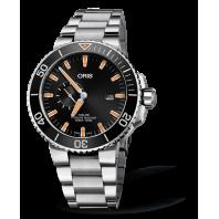 Oris Aquis Small Second & Date - black & bracelet 74377334159-82405PEB