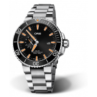 Oris Aquis Small Second & Date - black & bracelet 74377334159-82405PEB
