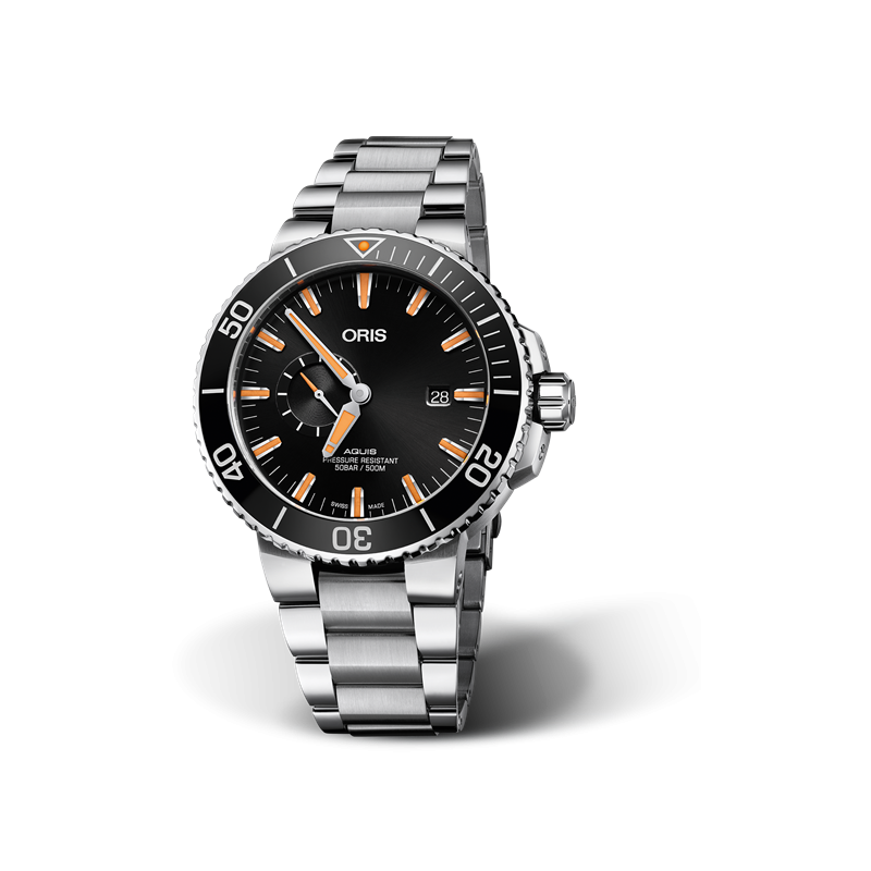 Oris Aquis Small Second & Date - steel bracelet