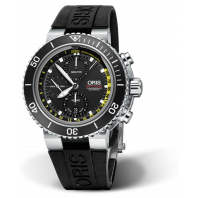 Oris Aquis Depth Gauge Chronograph Black Dial