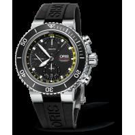 Oris Aquis Depth Gauge Chronograph Black Dial