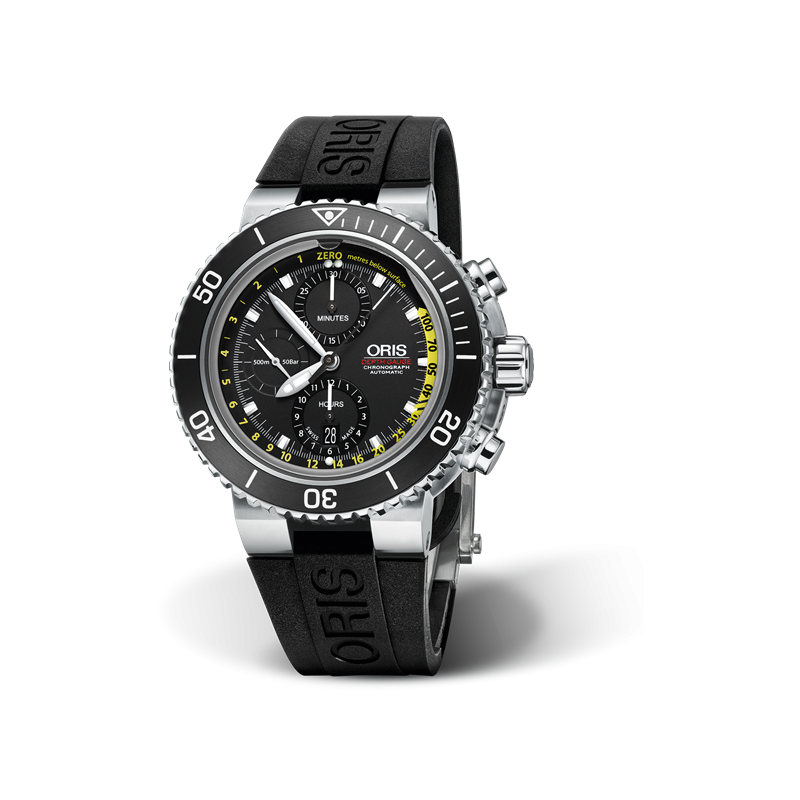 91668aaf2 Oris Aquis Depth Gauge Chronograph - Black rubber