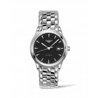 Longines - Flagship Black Steel Gent's Watch 38mm
