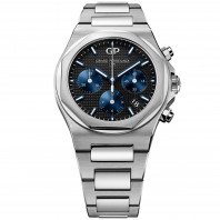 Girard Perregaux - Laureato Chronograph Black & Bracelet 38 mm