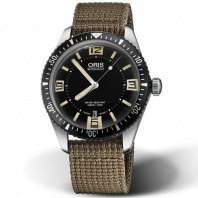 Oris Divers Sixty-Five Brown Textile Strap