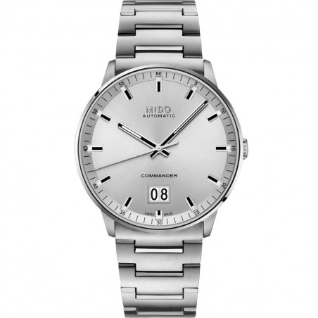Mido Commander Big Date with silver dial & bracelet  M0216261103100