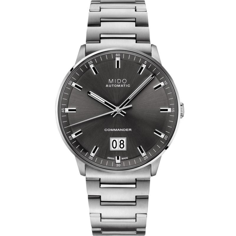 Mido Commander Big Date with grey dial & steel bracelet M0216261106100