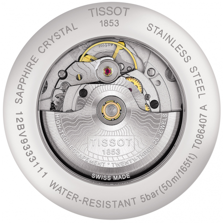 Tissot - Luxury Powermatic 80 Blå & Stållänk T0864071104100
