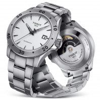 Tissot -V8 Swissmatic Automatic Men's Watch White Steel Braclet