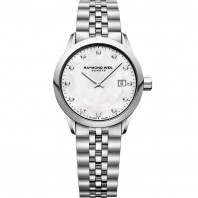 Raymond Weil - Freelancer Mother-Of-Pearl 12 Diamonds Steel Lady's Watch Quartz