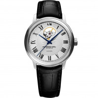 Raymond Weil - Mestro Open Heart Steel & Leather Strap Gent's Watch
