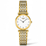 Longines La Grande Classique Mother-Of-Pearl Diamonds Gold & steel women's watch