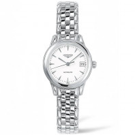 Longines -Flagship White Steel 26mm Lady's Watch