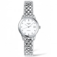 Longines -Flagship 26mm White Diamonds Steel Damklocka