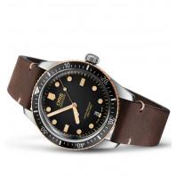 Oris Divers Sixty-Five Bronze Bezel, Läderband 733 7707 4354-5 20 55