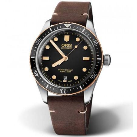 Oris Divers Sixty-Five Bronze Bezel, Leather strap 733 7707 4354-07 5 20 55