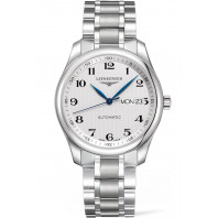 Longines - Master Automatic 38.5 mm DayDate white & bracelet Gent's Watch