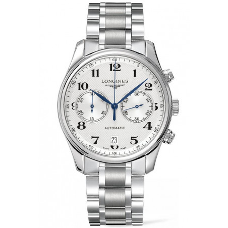 Longines - Master Automatic Chronograph White Steel Braclet Gent's Watch