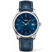 Longines - Master Blue Stål Leatherstap Gent's Watch