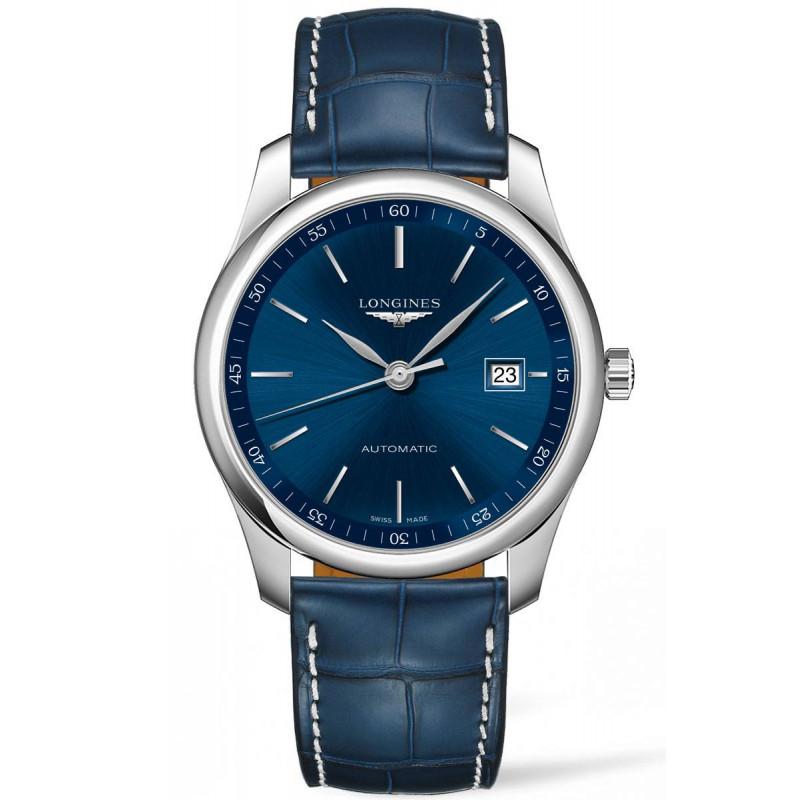 Longines - Master Blue Stål Leatherstap Gent's Watch